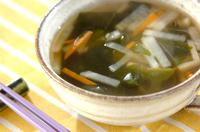 塩ワカメのスープ