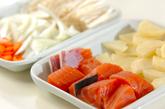 鮭のユズコショウ風味炒めの下準備1