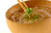 たっぷりモヤシスープの作り方2