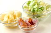 春キャベツとジャガイモのパスタの作り方1