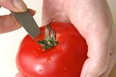 トマトのベーコン巻きの作り方1