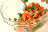 豆とトマトのフレンチサラダの作り方1