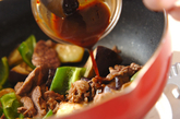 野菜たっぷり豚肉のみそ炒め丼の作り方2