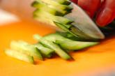 緑豆モヤシと春雨の中華風サラダの下準備2