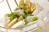 長芋とキウイの和え物の作り方1