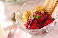 イチゴのチョコパフェ