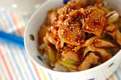 中華ショウガ焼き丼
