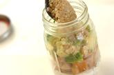 チキンとアボカドのヨーグルトジャーサラダの作り方3