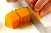 カボチャとヒジキのレンジ煮の下準備1