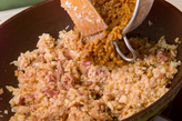 鶏肉納豆のレタス包みの作り方3