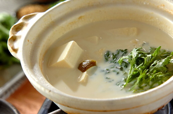 あったか豆乳湯豆腐