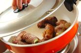 バルサミコの牛ネギ巻きの作り方2
