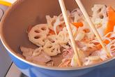 豚肉レンコンの甜麺醤炒めの作り方2
