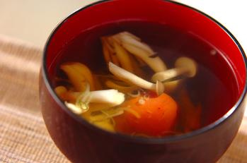 シメジの梅スープ