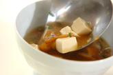 ナメコと豆腐のみそ汁の作り方2