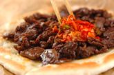 フライパンで牛肉のプルコギピザの作り方4