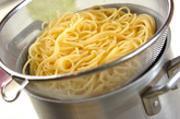 ジェノベーゼスパゲティーの作り方1