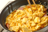 満腹ヘルシー!豆腐入りふわふわオムレツの作り方3