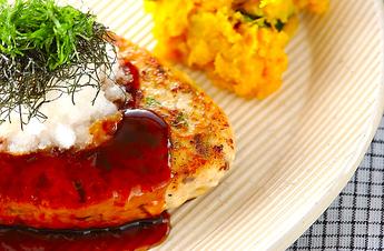 鶏照焼きハンバーグ
