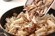 キノコの炒め煮の作り方1