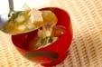 木綿豆腐&玉ネギみそ汁の作り方2