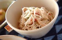 梅マヨ素麺