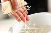梅マヨ素麺の下準備1