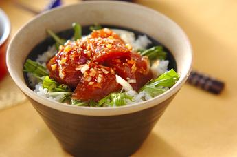 ピリ辛マグロ丼