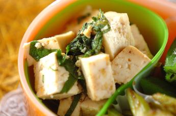 豆腐のしそダレ
