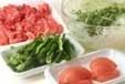 牛肉ピーマンソース炒めの下準備1