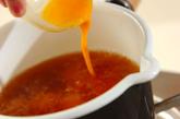 レタスとハムの卵スープの作り方2
