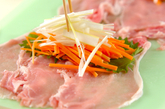 照り焼き豚の野菜巻きの作り方1