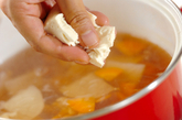 くずし豆腐のさっぱり汁の作り方2