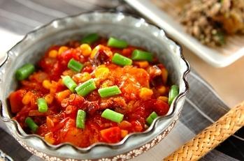 揚げ餅のトマト煮