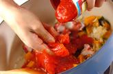 揚げ餅のトマト煮の作り方2