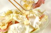 レンジでキャベツと豚肉のバター蒸しの作り方2