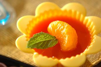 ニンジンとオレンジのゼリー