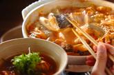 魚のみそキムチ鍋の作り方2