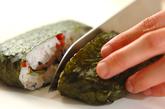 梅ご飯でサッパリ!焼肉のおにぎらずの作り方4