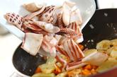 イカのチリソース炒めの作り方2