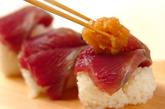 カツオのにぎり寿司の作り方4