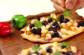 トルティーヤのフルーツピザ風の作り方1