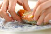 サーモンと香菜の生春巻きの作り方2