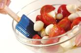 トマトとらっきょうの前菜の作り方1
