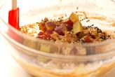 お茶セサミ蒸し菓子の作り方2