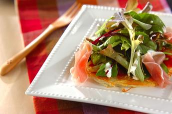 カリカリポテトの野菜ピザ