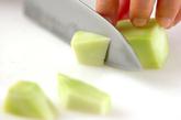 ブロッコリーのチーズまぶしの下準備1