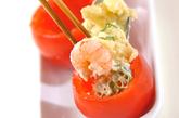 エビのトマトカップサラダの作り方2