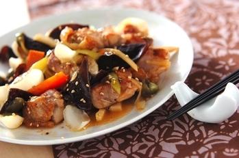 ユリネと鶏肉の炒め物
