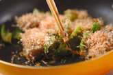コンニャクの梅炒めの作り方2